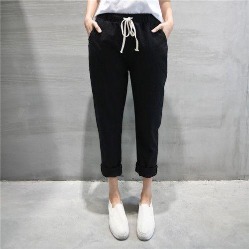 显瘦九分裤