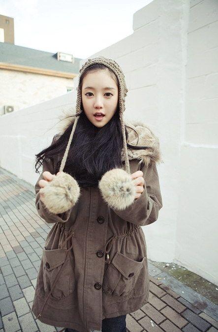 韩90后甜美冬日搭配 好美哟